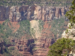 Rockfall in the Grand Canyon