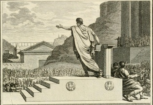 Gaius Gracchus, tribune of the people, presiding over the Plebeian Council