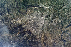 A NASA image of the Greater St. Louis area