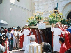 Roman Catholic Easter procession in Comayagua, Honduras