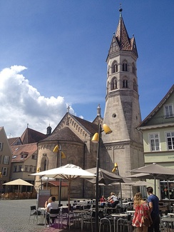 The east of the Johanneskirche as seen from the Marktplatz