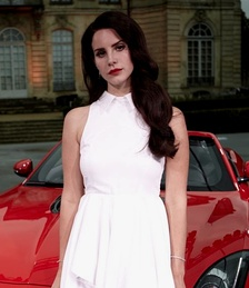 Del Rey at the Paris Motor Show endorsing the Jaguar F-Type in 2012.