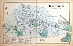 Map of Rockville in 1879
