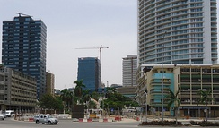 High rises in downtown Luanda.