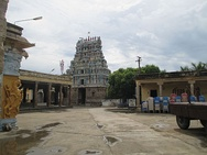Kayarohanaswami temple and Soundararaja Perumal Temple, the most prominent temples in the town