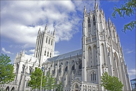 Construction of Washington National Cathedral began in 1907 and was completed in 1990.
