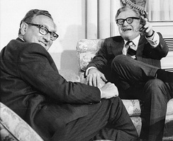 Vice President Nelson Rockefeller (right) with Secretary of State Henry Kissinger, January 3, 1975.
