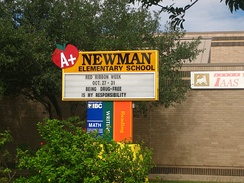 Newman Elementary School at 1300 Alta Vista Blvd., is named for the late businessman  B. P. Newman and his widow, Peggy.