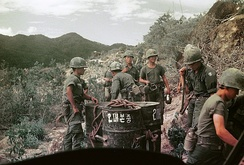 Soldiers of the South Korean White Horse Division in Vietnam