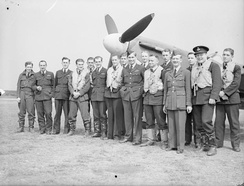 452 Squadron, 1941. Finucane is fourth from left.
