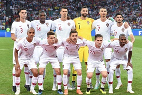Portugal lining up before a match at the 2018 FIFA World Cup