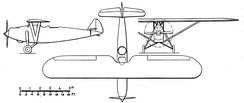 Potez 39 3-view drawing from NACA Aircraft Circular No.114