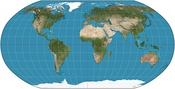 Robinson projection, used by National Geographic Society