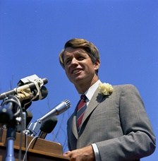 Kennedy campaigning in Los Angeles (photo courtesy of John F. Kennedy Presidential Library & Museum, Boston)