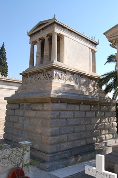 Schliemann's grave in the First Cemetery of Athens.