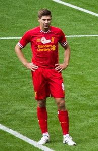 Gerrard during his testimonial in August 2013