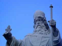 Statue of St. Patrick, patron of the Archdiocese of Boston