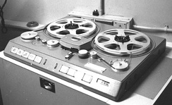 Early model Studer professional tape recorder, 1969