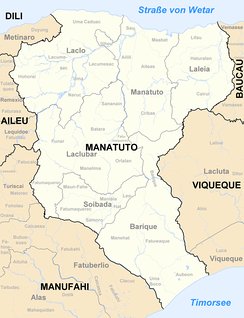 Map of Manatuto district