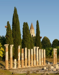 A view of the archaeological area of Aquileia.