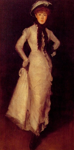 Maud Franklin Arrangement in White and Black, James McNeill Whistler, 1876. Freer Gallery of Art, Washington, D.C..