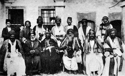 Yazidi leaders and Chaldean clergymen meeting in Mesopotamia, 19th century