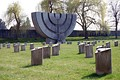 Menorah monument at Jewish Cemetery of Theresienstadt concentration camp