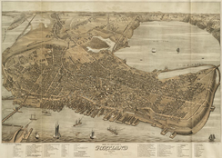 """Bird's Eye View of the City of Portland,"" 1876"