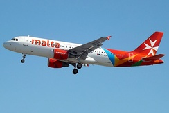 An Air Malta Airbus A320.