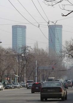 Rahat Towers are among the tallest buildings in Kazakhstan