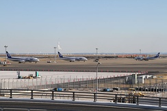 Three 787s of All Nippon Airways sit grounded at Tokyo Haneda International Airport in late January 2013.