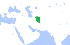 The Afsharid dynasty near its end, as its authority is reduced to the province of Khorasan[41]