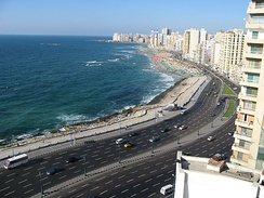 Alexandria, one of the largest cities on the Mediterranean