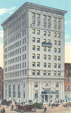 "Amoskeag Bank in 1913: At 10 stories, it was Manchester's ""skyscraper"" for over a half-century."
