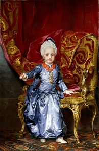Archduke Francis at the age of 2, 1770. by Anton Raphael Mengs
