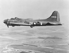 B-17F The Careful Virgin, 323rd Bomb Squadron, completed 80 missions and transferred to Operation Aphrodite