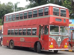 A double decker bus in Mumbai, India