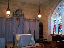 The Blue Chapel in Keating Hall, Rose Hill