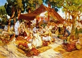 North African market by Frederick Arthur Bridgman, 1923