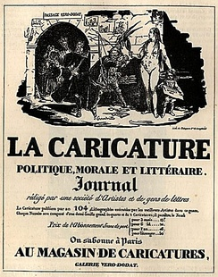 Balzac publicized the novel he was writing in the Parisian journal La Caricature.
