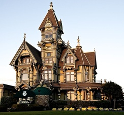 Late Victorian Carson Mansion in Eureka, California.