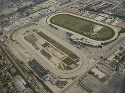 Aerial view of the speedway, after demolition of the grandstand, 2007.