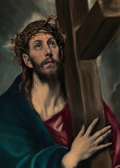 Christ Carrying the Cross, 1580, by El Greco, whose art reflects both his roots in Greek Orthodox traditions and the Catholic Counter-Reformation