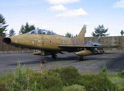 Retired RDAF F-100F Super Sabre