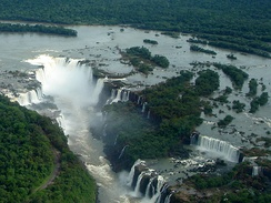 Iguazú Falls, in Brazil, one of the Seven Wonders of Nature