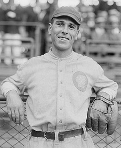 Fred Snodgrass, pictured as a Boston Brave in 1916