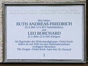 Berlin memorial plaque, Ruth Andreas-Friedrich (Onkel Emil [de])