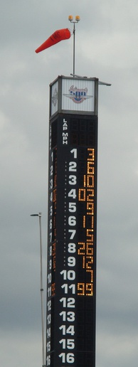 Scoring pylon at the close of pole day qualifications in 2009.