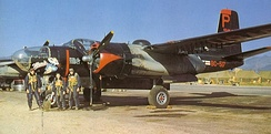 "B-26B-61-DL, AF Ser. No. 44-34517 ""Monie"" of the 37th BS, 17th BG flown by 1st Lt Robert Mikesh, Pusan AB, Korea 1952"