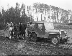 Jeep demonstration for farming and industry – Netherlands, 1946